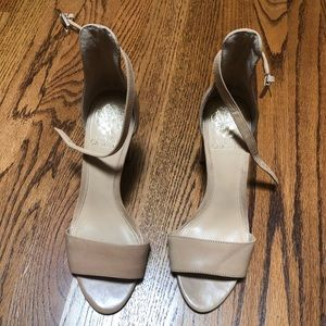Vince Camuto Nude Leather Heels Strappy
